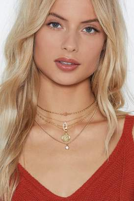 Nasty Gal You Got Charm Layered Necklace