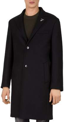 The Kooples Traditional Caban Stretch-Wool & Cashmere Coat