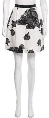Tanya Taylor Floral Mini Skirt