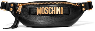 Moschino - Embellished Textured-leather Belt Bag - Black $695 thestylecure.com