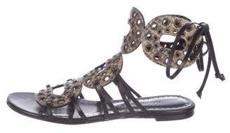 Alexa Wagner Lace-Up Flat Sandals