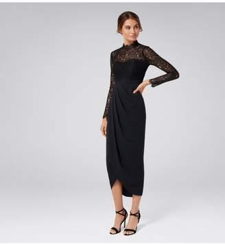 Ever New Larissa Petite Lace Drape Maxi Dress
