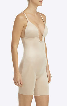 Show Me Your Mumu SPANX ~ Suit Your Fancy Plunge Low-Back Mid-Thigh Bodysuit ~ Champagne Beige