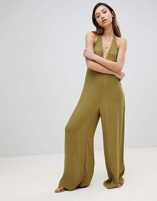 Influence Beach Jumpsuit In Halter Neck