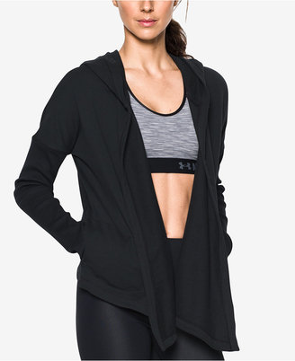 Under Armour Open-Front Hooded Terry Cardigan $99.99 thestylecure.com