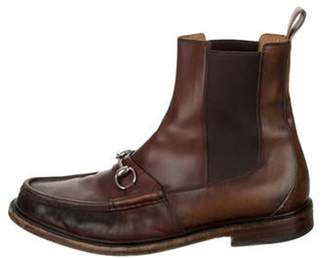 Gucci Leather Chelsea Boots brown Leather Chelsea Boots
