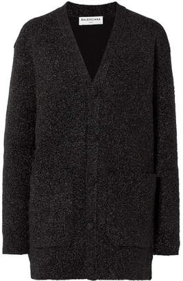 Balenciaga Oversized Lurex Cardigan - Black