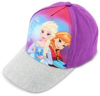Disney Little Girls Frozen Elsa and Anna Cotton Baseball Cap