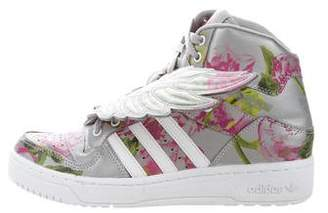 Jeremy Scott x Adidas Printed High-Top Sneakers