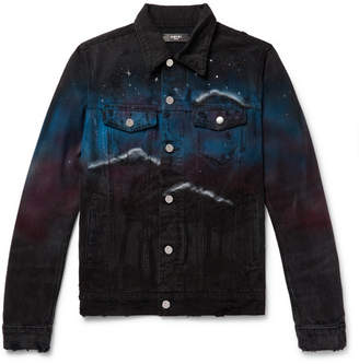 Amiri Embellished Printed Denim Jacket