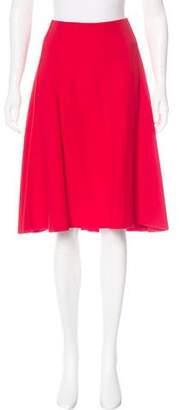 Reed Krakoff Silk-Trimmed Knee-Length Skirt