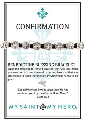 My Saint My Hero Confirmation Blessing Bracelet