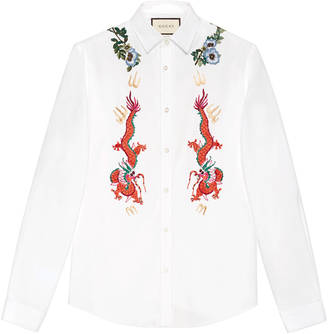 Cotton Duke shirt with embroidery $1,150 thestylecure.com