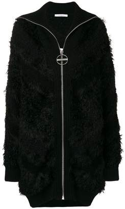 Givenchy long zipped cardigan