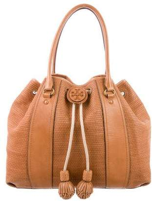 Tory Burch Leather Drawstring Tote