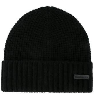 DSQUARED2 ribbed knit hat