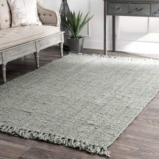 Bungalow Rose Windom Hand-Woven Gray Area Rug