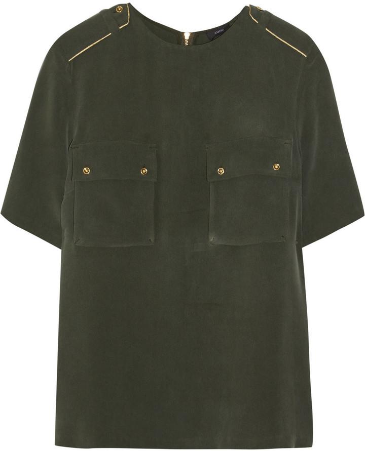 Joseph Marline washed-silk top