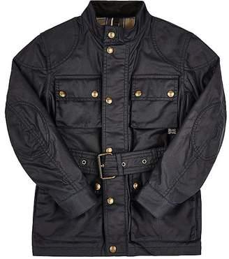 Belstaff Coated-Cotton Belted Jacket $550 thestylecure.com