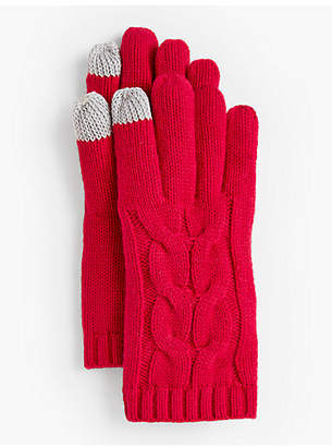 Talbots Soft Cable Touch Gloves