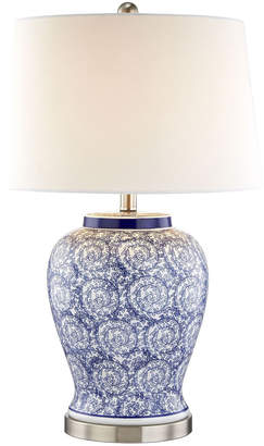 Webster Temple & Tessa Swirl Ceramic Table Lamp