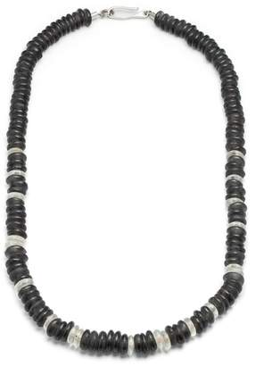 Lulu Frost George Frost Stealth Morse Glass Bead Necklace