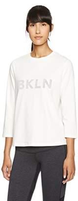 Danskin (ダンスキン) - (ダンスキン) DANSKIN フィットネスウェア フロッキープリントTシャツ DD77328 [レディース] DD77328 CW カメオホワイト L