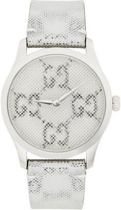 Gucci Silver GG Hologram G-Timeless Watch