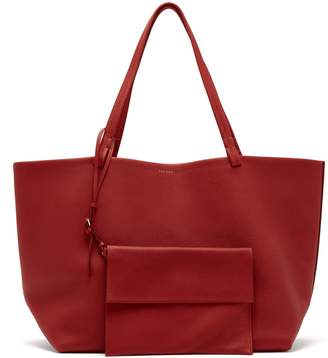 The Row Park grained-leather bag