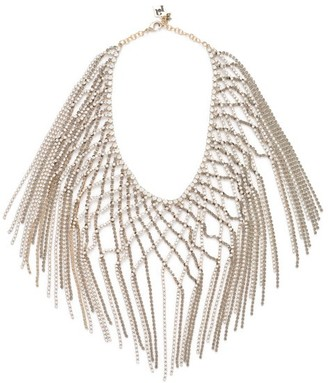 Rosantica By Michela Panero - Oasis Crystal Embellished Lattice Necklace - Womens - Grey Multi