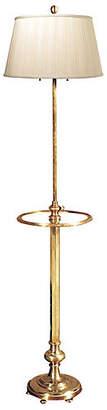 Visual Comfort & Co. Overseas Club Tray Floor Lamp - Brass