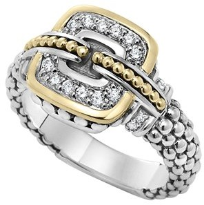 Women's Lagos 'Cushion' Small Diamond Ring $695 thestylecure.com