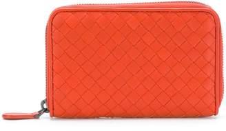 Bottega Veneta terracotta Intrecciato zip around wallet