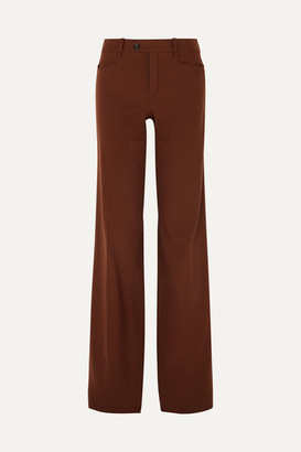 Chloé Wool-blend Wide-leg Pants - Brown