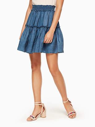 Kate Spade Chambray smock waist skirt