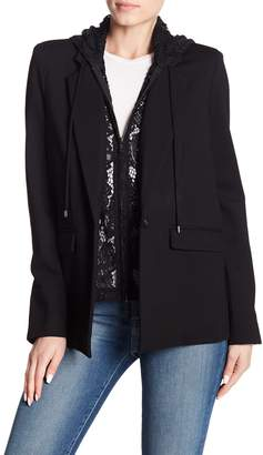 Central Park West Lace Hooded Blazer