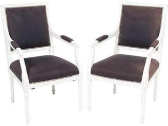 Jonathan Adler Pair of Louis Fauteuil Armchairs