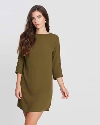 Dorothy Perkins 3/4 Sleeve Button Shift Dress