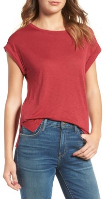 Women's Splendid Roll Cuff Tee $58 thestylecure.com