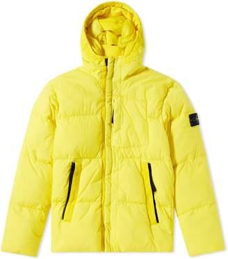Stone Island Junior Down Filled Crinkle Reps Hooded Jacket