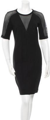 Trina Turk Mesh-Accented Sheath Dress $70 thestylecure.com