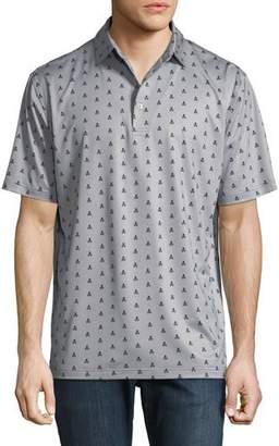 Peter Millar Marauder Bones-Print Polo Shirt