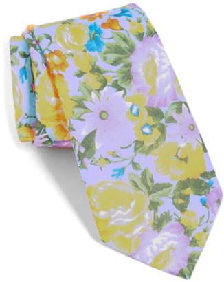 The Tie Bar Duke Floral Linen Tie