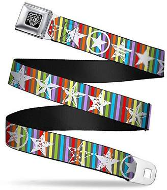 Buckle-Down Unisex-Adults Seatbelt Belt Stars Regular