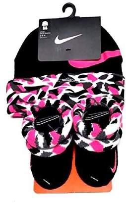 Nike Baby Girl's Big Swoosh Camo Print Hat & Booties Set 0-6M
