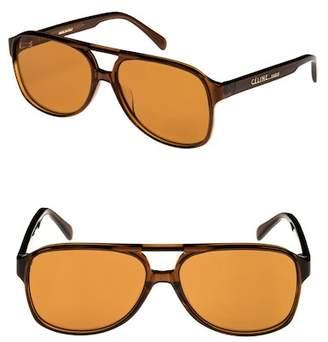 Celine C?line 62mm Oversize Aviator Sunglasses