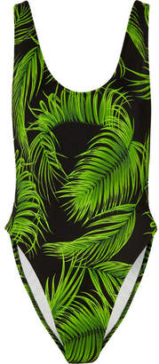 Norma Kamali Marissa Printed Swimsuit - Green