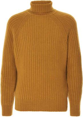 Ermenegildo Zegna Ribbed Wool Turtleneck Sweater