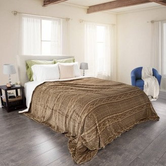 Somerset Home Flannel/Sherpa Blanket