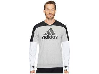 adidas Sport ID Badge of Sport Crew Sweater Men's Sweater